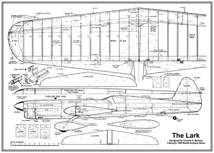 Lark model airplane plan