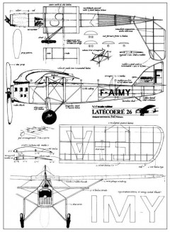Latecoere 26 model airplane plan
