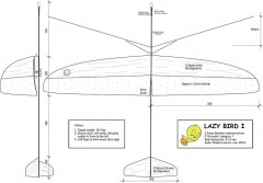 lazy bird model airplane plan