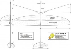 lazy bird model airplane plan