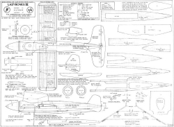 Lazybones 19in model airplane plan