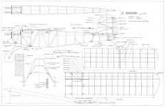 Le Bourdon model airplane plan