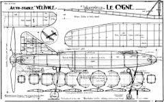 Le Cygne Wakefield model airplane plan
