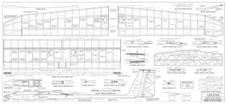 Legend model airplane plan