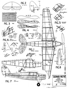 Leopard Moth model airplane plan