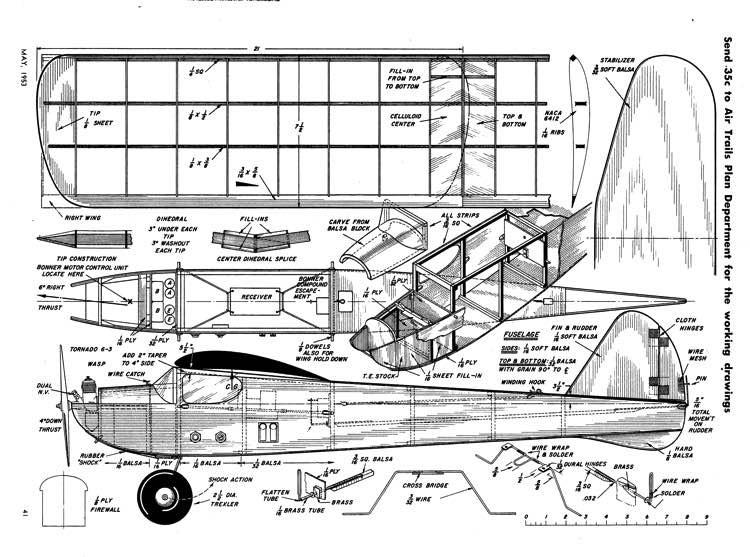 LibertyBelle model airplane plan