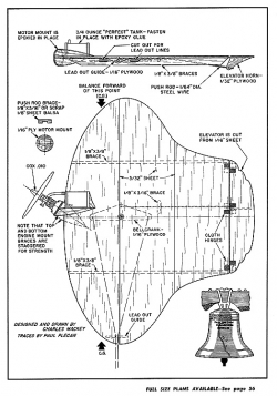 Liberty Bell model airplane plan
