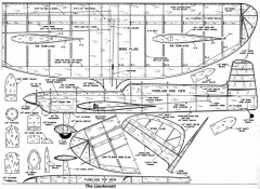 Lieutenant model airplane plan