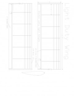 Light Duty p3 Model 1 model airplane plan
