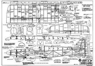 Light n Up Floatplane model airplane plan