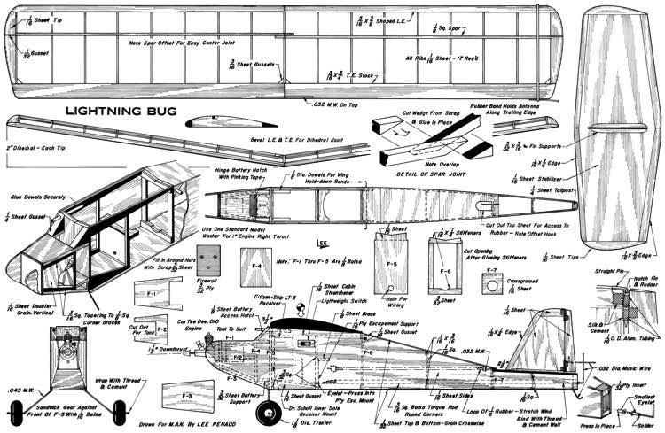Lighting Bug 27in model airplane plan
