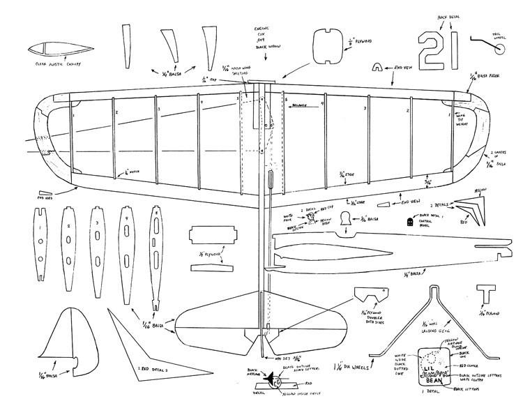 Lil Jumpin Bean model airplane plan