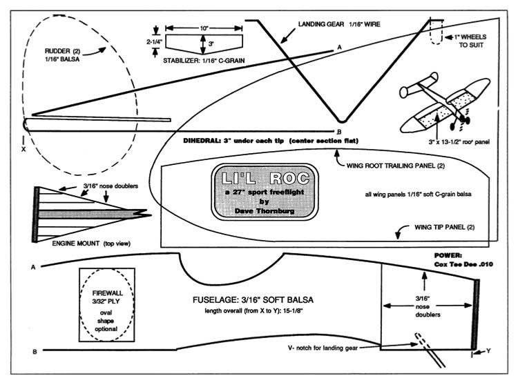 Lil Roc 27in model airplane plan