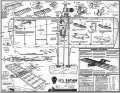 Lil Satan model airplane plan