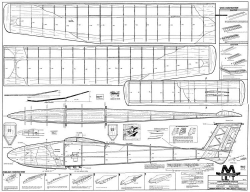 Lil T glider 75in model airplane plan