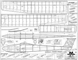Lil T glider 75in model airplane plan