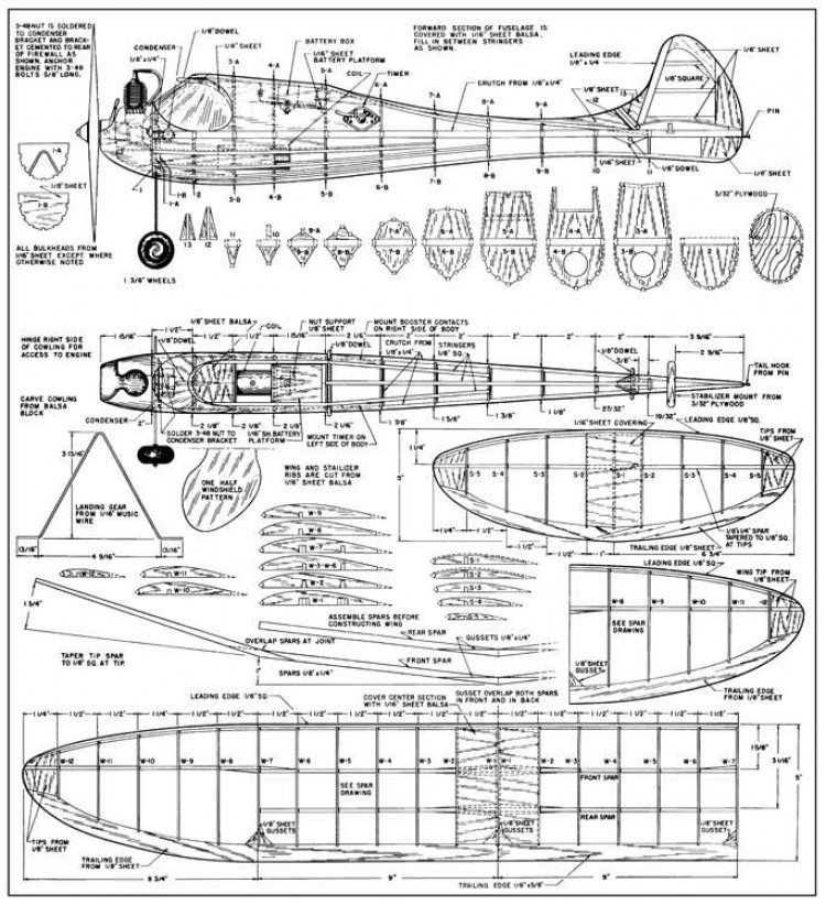 Lilliput Gassie-FM-06-47 model airplane plan