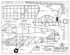 Lincoln AP-K5 model airplane plan