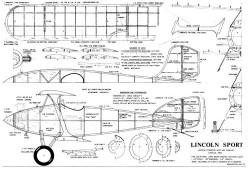 Lincoln Sport Biplane model airplane plan