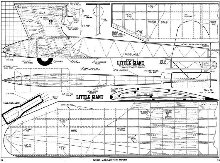 Little Giant model airplane plan