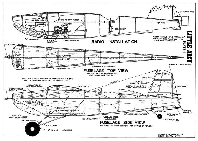 Little Arcy model airplane plan