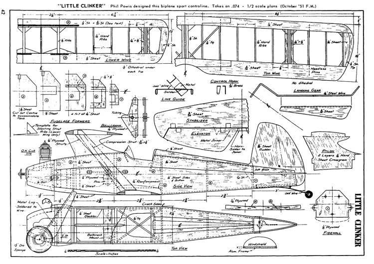 Little Clinker model airplane plan