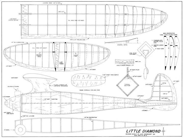 Little Diamond model airplane plan
