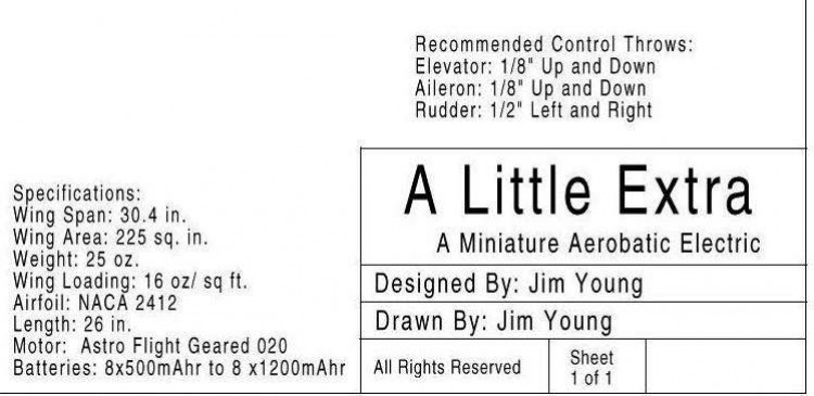 Little Extra model airplane plan