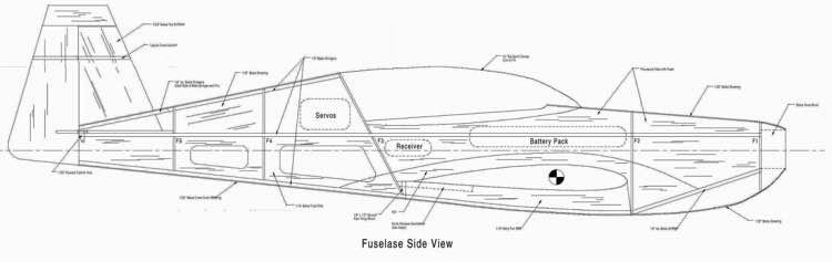 Little Extra p3 Fuselage model airplane plan