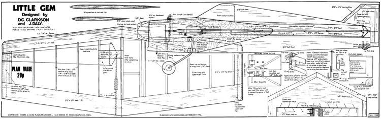 Little Gem model airplane plan