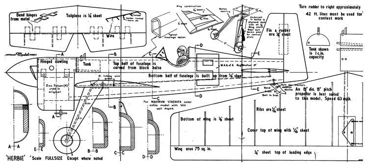 Little Herbie model airplane plan