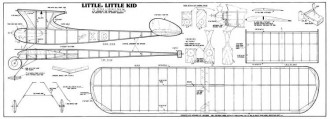 Little Little Kid model airplane plan