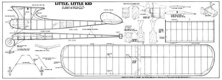 Little Little Kid model airplane plan