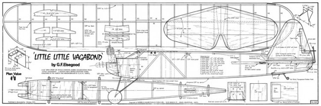 Little Little Vagabond model airplane plan