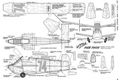 Little Red Twin-MAN 10-62 model airplane plan