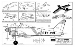 Little Sabre model airplane plan