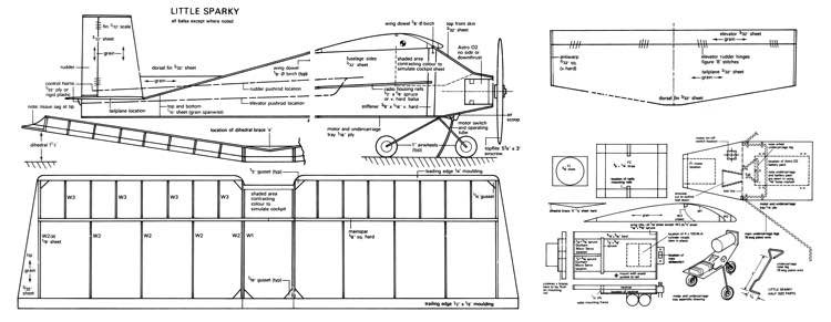 Little Sparky model airplane plan