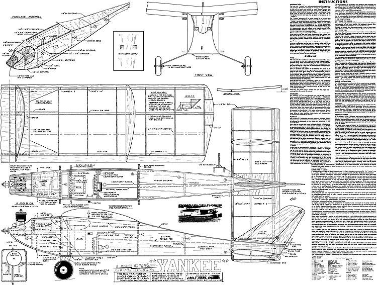 Live Wire Yankee model airplane plan