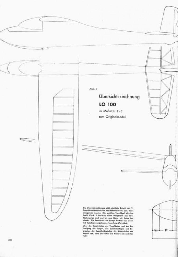 Lo100 p1 model airplane plan
