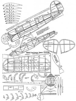 Lockheed Sirius Seaplane model airplane plan