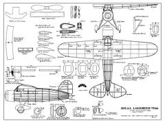 Lockheed Vega model airplane plan