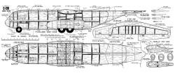 Lockheed C-130-HH-656 model airplane plan