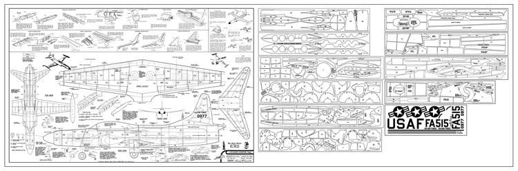 Lockheed F94C Starfire - a late 1940s jet by Comet model airplane plan