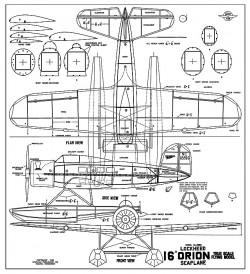 Lockheed Orion 16in model airplane plan