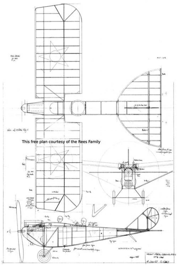 Loening M-8-0 model airplane plan
