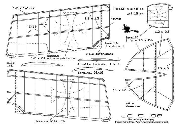 Lohner AA p2 model airplane plan