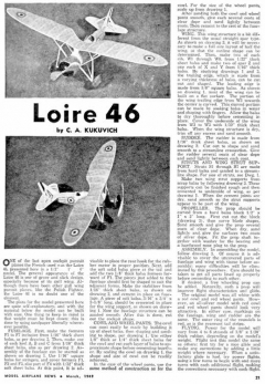 Loire46 2 model airplane plan