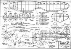 Loire46 model airplane plan