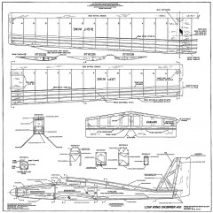 Low Wing Skimmer 400 model airplane plan