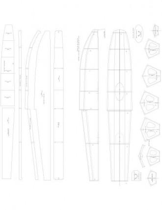Lt Wt 40 SIZE FLOATS Model 1 model airplane plan